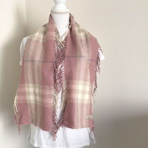 Pink Burberry Cashmere Scarf